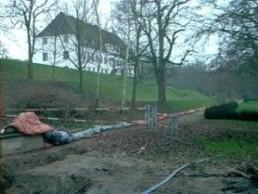 Råvandsledning langs Brabrand Sø udført for Århus kommunale værker