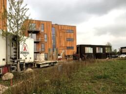 underboring for dræn ved nyopført bygning i 3 etager